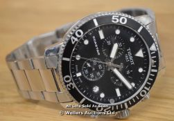 *GENTS TISSOT SEASTAR,CHRONOGRAPH QUARTZ MOVEMENT, BRUSHED AND POLISHED STAINLESS STEEL CASE &