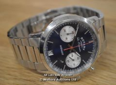 *GENTS ROTARY AVENGER WATCH, QUARTZ MOVEMENT, 2 SUB DIAL CHRONOGRAPH, BLUE BATTON DIAL WITH DATE, 40