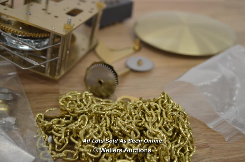 HERMLE 2CHAIN DRIVEN MOVEMENT WITH PENDULUM BOB,HANDS AND FITTINGS. - Image 3 of 4