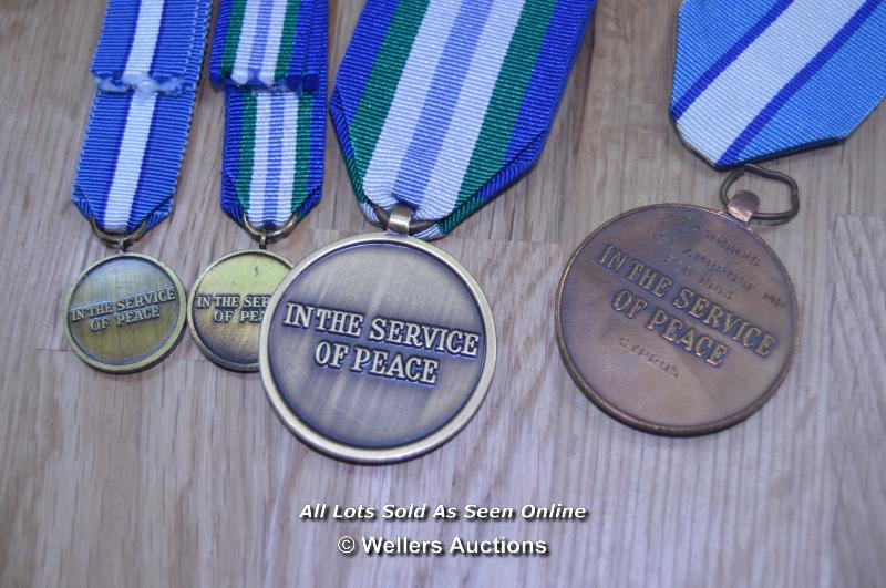 COLLECTION OF BRITISH UNITED NATIONS PEACE KEEPING SERVICE MEDALS 2X FULL 2X MINITURE (4) - Image 2 of 2
