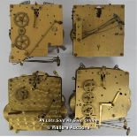 4X MECHANICAL BRASS CLOCK BELL STRIKE MOVEMENTS,BRITISH ANVIL/ENFIELD CLOCK CO,RESTORATION AND