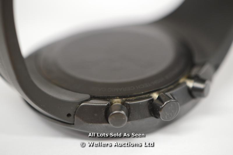 GENTS RADO DIASTAR BLACK CHRONOGRAPH, LIMITED EDITION NO 0626/1111, AUTOMATIC CHRONOGRAPH WITH DATE, - Image 4 of 4