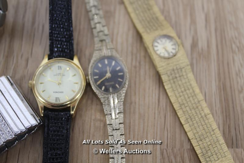 SIX ASSORTED LADIES WATCHES INCLUDING SEKONDA, ROTARY AND SWISS BALANCE, ALL SPARES AND REPAIRS - Image 2 of 3