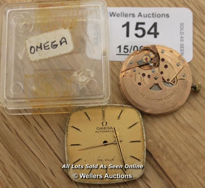 GENTS OMEGA DEVILLE,AUTOMATIC MOVEMENT,CAL 711, CHAMPAGNE BATTON DIAL,SPARES REPAIRS & RESTORATION