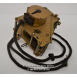 SMITHS ELECTRIC MECHANICAL BRASS CLOCK MOVEMENT,200-250VOLT,MOD MARKED,RESTORATION AND REPAIR