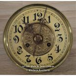 UNGHANS,MECHANICAL CLOCK MOVEMENT WITH GERMANIC ARABIC HOUR MARKERS AND DIAL,RESTORATION AND REPAIR