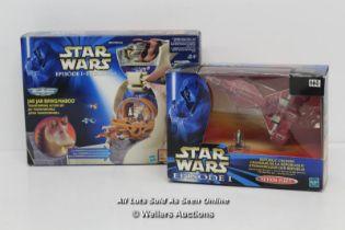 STAR WARS EPISODE 1 MICROMACHINES JAR JAR BINKS / NABOO PLAYSET AND ACTION FLEET REPUBLIC CRUISER,