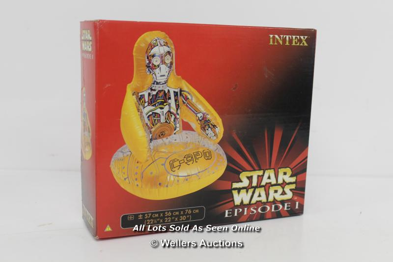 MIXED SELECTION OF SEALED STARWARS EPISODE 1, INCLUDING FINE LINE GLASSES,INTEX C3PO BLOW UPSEAT, - Image 3 of 4
