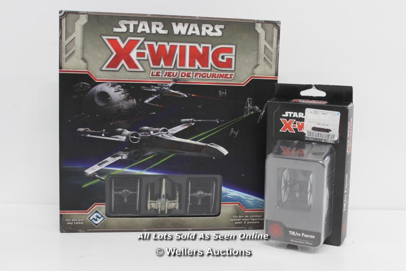 STAR WARS X-WING MINIATURES GAME AND TIE FIGHTER EXPANSION PACK MODEL