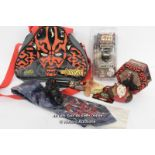 STAR WARS EPISODE 1 - ASSORTED ITEMS INCLUDING DARTH MAUL BAG, MILLENIUM LONDON SILK TIE AND PIT