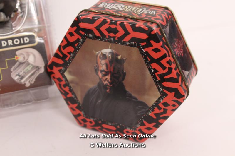 STAR WARS EPISODE 1 - ASSORTED ITEMS INCLUDING DARTH MAUL BAG, MILLENIUM LONDON SILK TIE AND PIT - Image 6 of 6