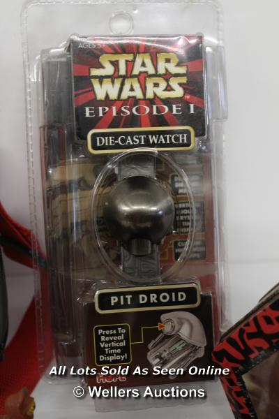 STAR WARS EPISODE 1 - ASSORTED ITEMS INCLUDING DARTH MAUL BAG, MILLENIUM LONDON SILK TIE AND PIT - Image 3 of 6