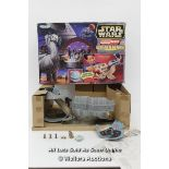 MICRO MACHINES DOUBLE TAKES DEATH STAR / TATOOINE PLAYSET. PRE - OWNED AND COMPLETE