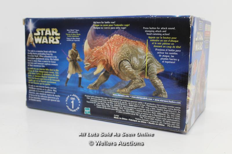 """UN-OPENED STAR WARS - EPISODE 2 """"REEK"""" ARENA BATTLE BEAST, HASBRO 2001 - Image 2 of 2"""