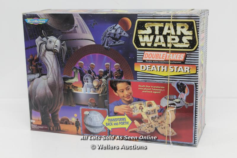 MICRO MACHINES DOUBLE TAKES DEATH STAR / TATOOINE PLAYSET. UNUSED, OUTER BOX OPENED