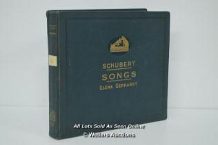 *VINTAGE SCHUBERT SONGS ELENA GERHARDT LP RECORDS HIS MASTERS VOICE [LQD214]