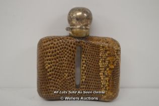 *SILVER AND SNAKESKIN FLASK [LQD215]