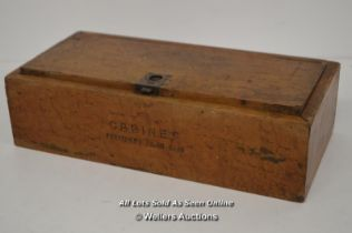 *VINTAGE H UPMAN WOODEN CIGAR BOX - 35CM BY 17CM [LQD214]