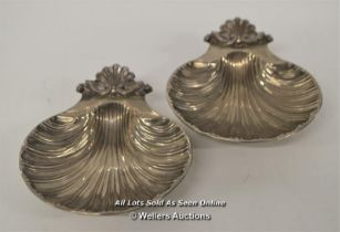 *VINTAGE SILVER PLATED SCALLOP SHELL DISHES [LQD214]