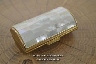 *TRINKET BOX WITH MOTHER OF PEARL LID [LQD214]