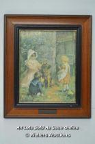 *SPRING DECORATION BY AGNES GARDNER KING 1880-1902 FRAMED & MOUNTED WOOD FRAME / PRINT, 19 X 24CM [