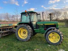John Deere 3350 tractor. J reg. hi lift.