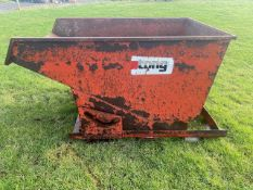 TONG TIPPING SKIP FOR FORKLIFT