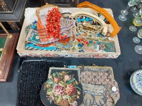 COLLECTION OF VICTORIAN BEADED BAGS