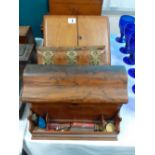 2 VICTORIAN STATIONARY BOXES & BLOTTER