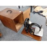 VICTORIAN SEWING MACHINE IN BOX