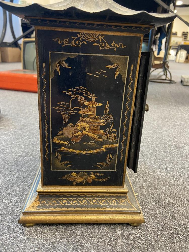 1920 CHINOISORIE DECORATED CLOCK - Image 3 of 6
