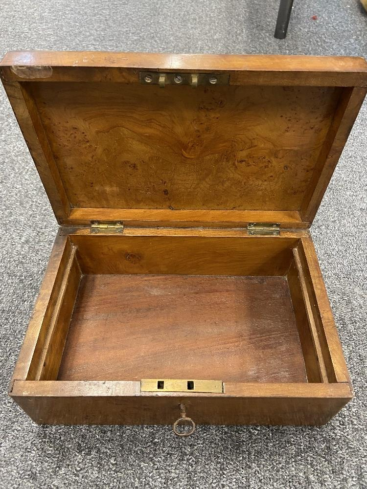 VICTORIAN TEA CADDY, 2 OTHER BOXES - Image 3 of 3