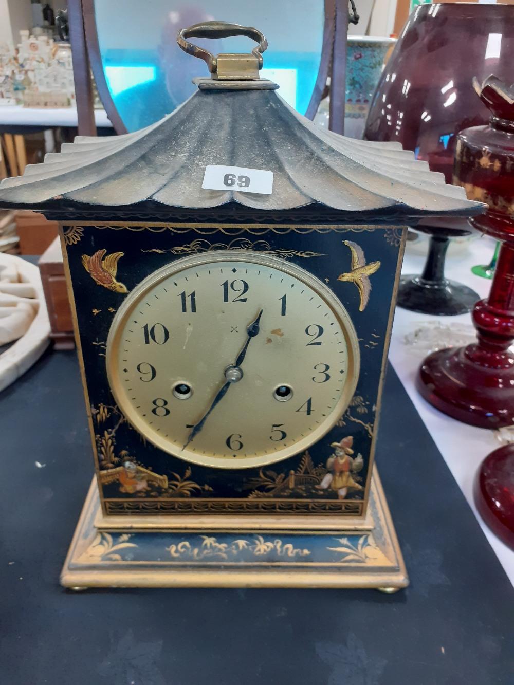 1920 CHINOISORIE DECORATED CLOCK