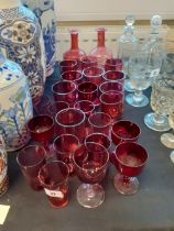 COLLECTION OF CRANBERRY GLASSES
