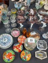 COLLECTION OF MILLIFIORI PAPERWEIGHTS