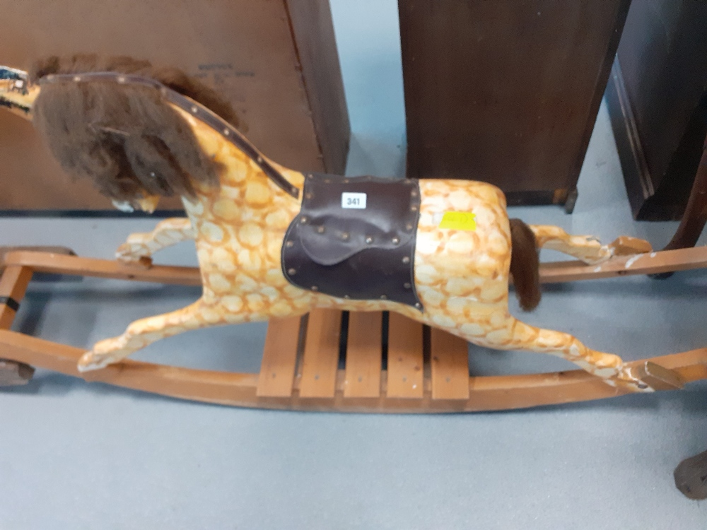 CHILDS CARVED WOODEN ROCKING HORSE