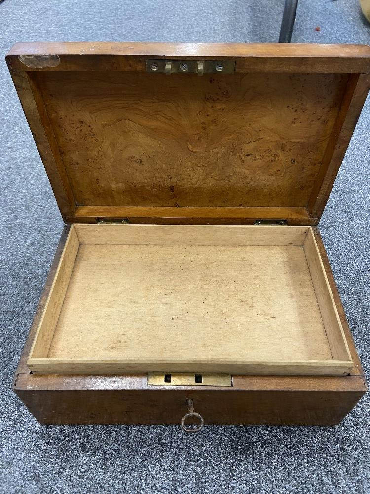 VICTORIAN TEA CADDY, 2 OTHER BOXES - Image 2 of 3
