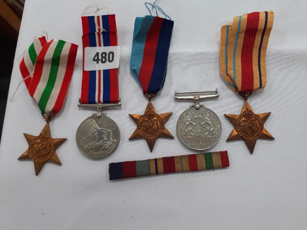 FIVE WW2 SERVICE MEDALS
