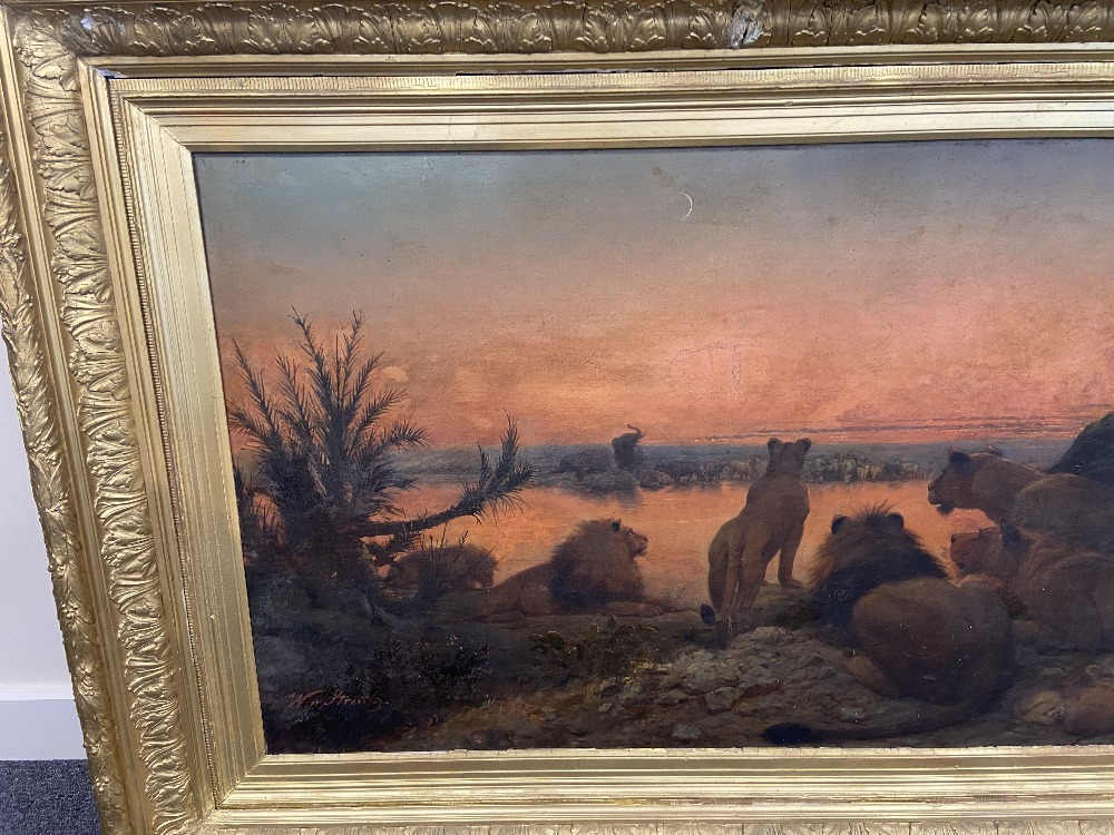 WILLIAM STRUTT 1825-1915 SIGNED OIL ON CANVAS - Image 7 of 11