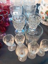 GEORGIAN GLASS ETCHED SHIP STAFFORD ETC