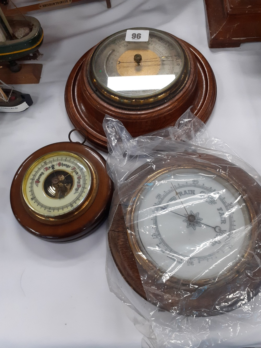 VICTORIAN BAROMETER, 2 OTHERS