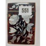19C TORTOISESHELL CARD CASE