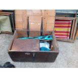 PINE TOOL CHEST WITH TOOLS