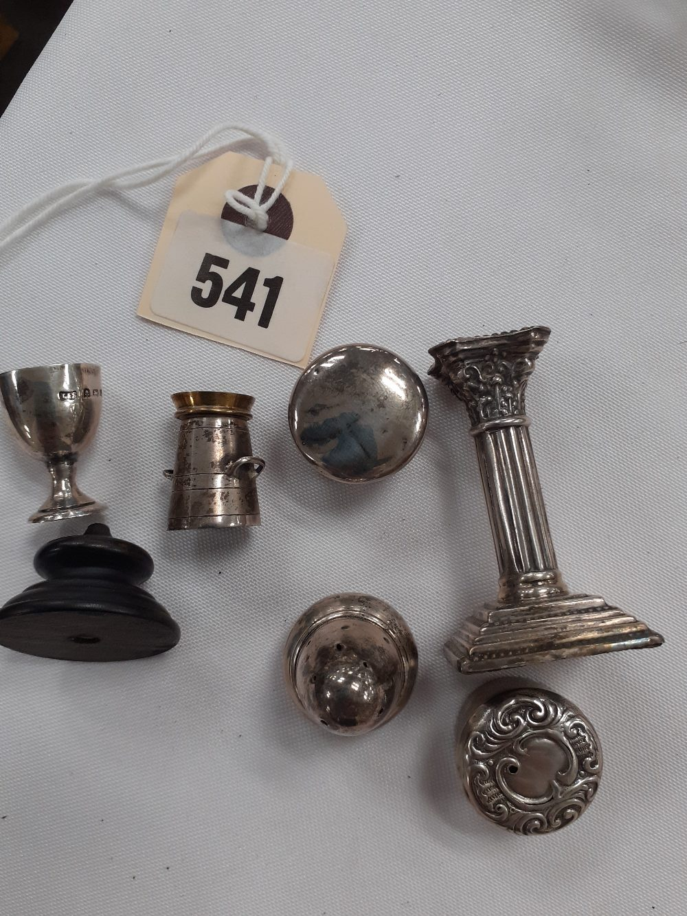 COLLECTION OF 6H/M SILVER MINIATURE ITEM