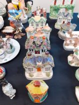 7 STAFFORDSHIRE POTTERY COTTAGES