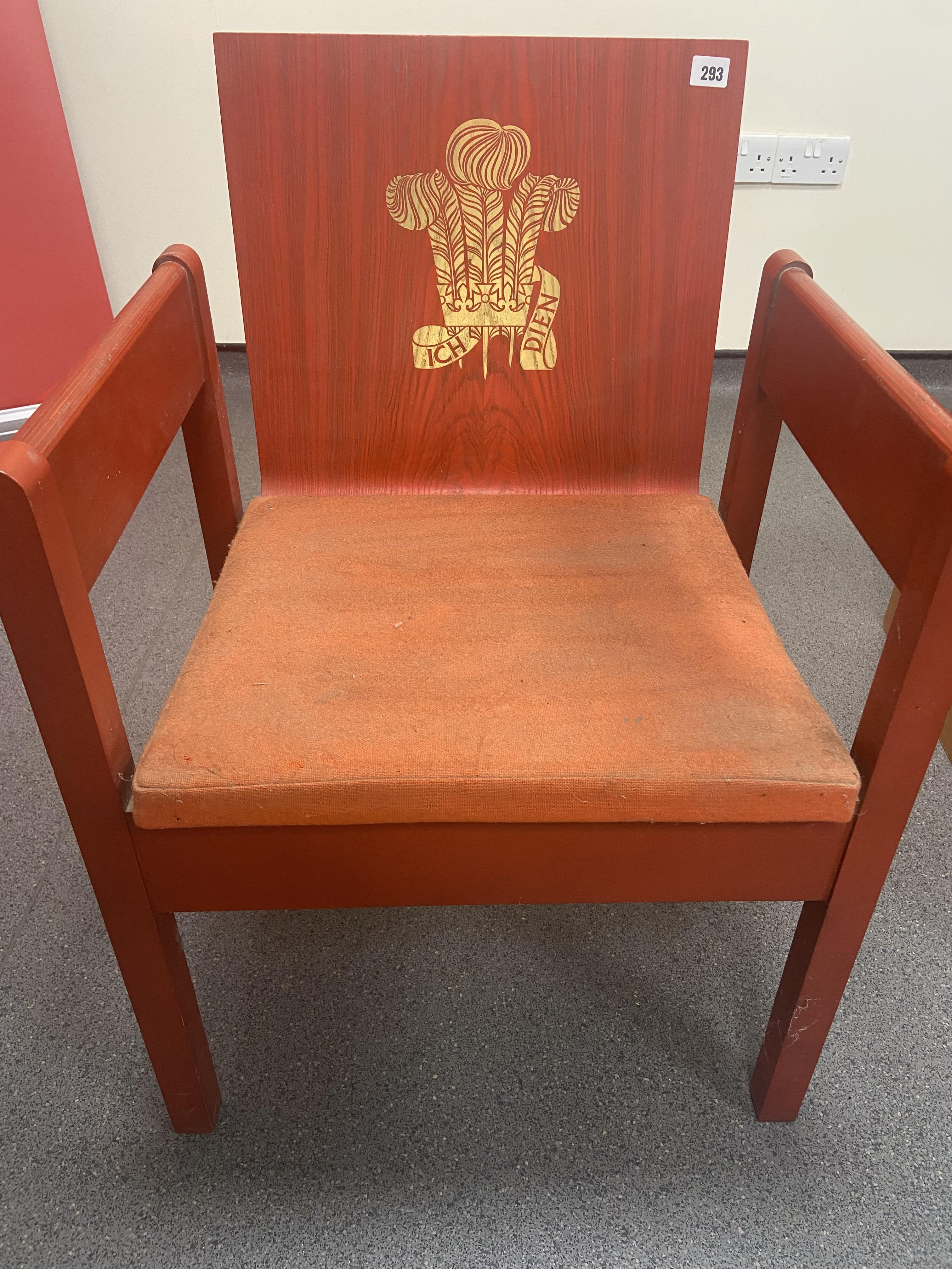 PRINCE OF WALES INVESTITURE CHAIR - Image 2 of 2