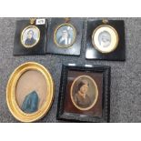 3 EARLY PORTRAIT MINIATURES, 2 OTHERS