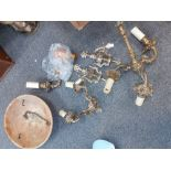 COLLECTION OF WALL LIGHTS & FITTINGS