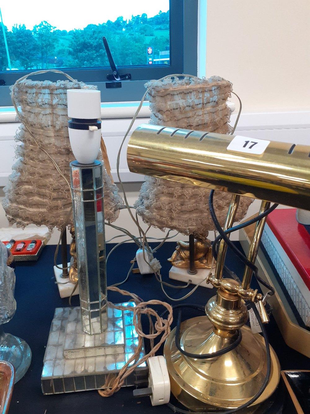 PAIR OF CHERUB TABLE LAMP