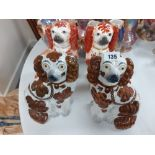 2 PAIRS OF STAFFORDSHIRE DOGS